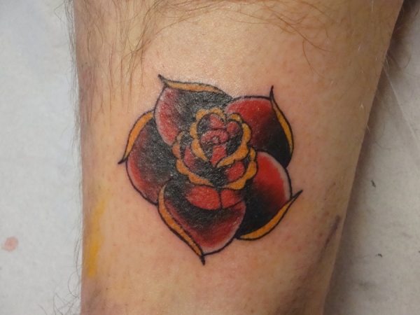 old school rose 25 Awesome Old School Tattoos