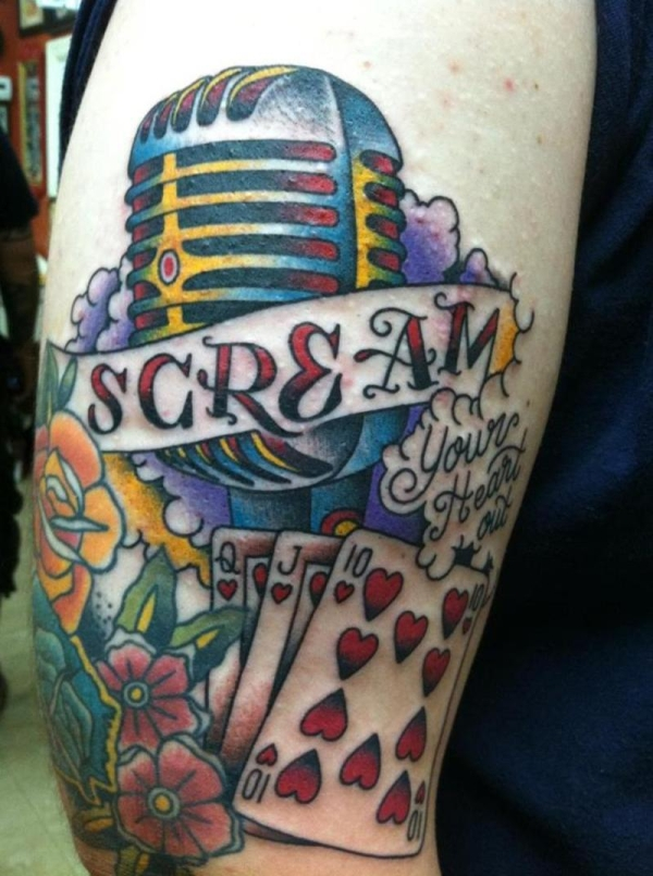 scream tattoo 25 Awesome Old School Tattoos
