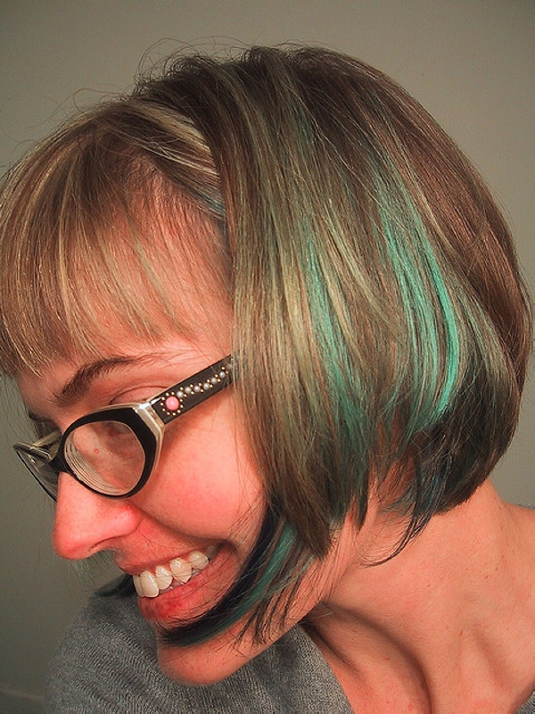 cool blue hair 35 Lovely Short Hair Styles For Older Women