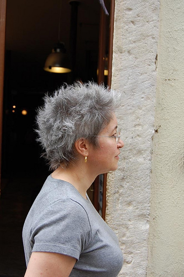 grey short hair style 35 Lovely Short Hair Styles For Older Women