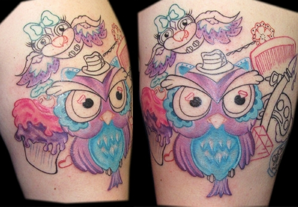 flying owl 20 Awesome Owl Tattoo Designs