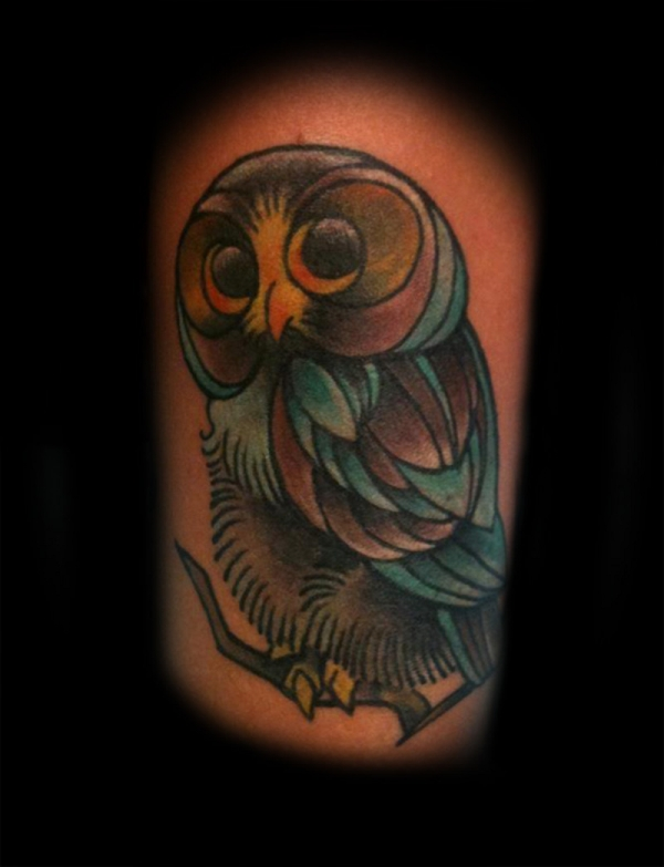 innocent owl 20 Awesome Owl Tattoo Designs