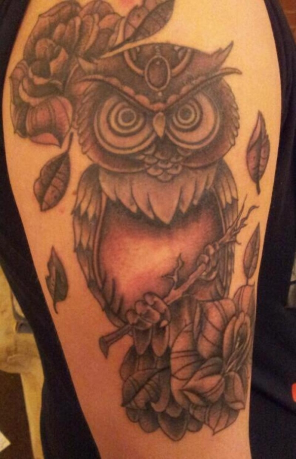 marvelous owl tattoo 20 Awesome Owl Tattoo Designs