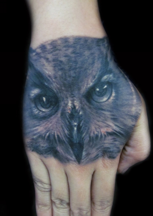 owl face 20 Awesome Owl Tattoo Designs