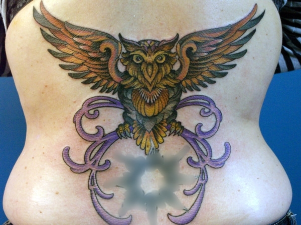soaring bird 20 Awesome Owl Tattoo Designs