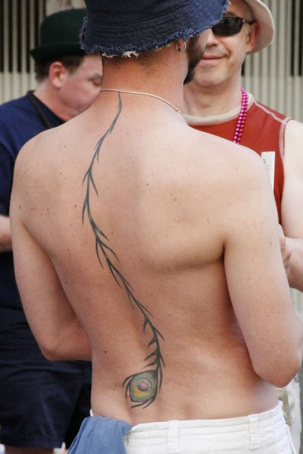 Full Back Feather Tattoo