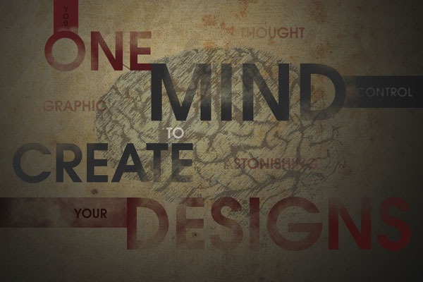 Create a Innovative Graphic Typography Wallpaper