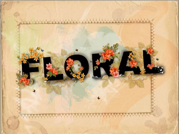 floral text 35 Awesome Photoshop Background Tutorials