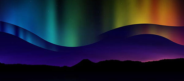 Create a Beautiful Northern Light Scene
