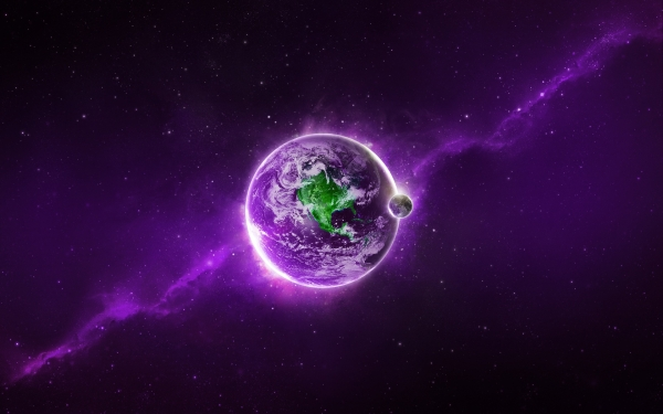 purple earth 30 Splendid Purple Background Collection