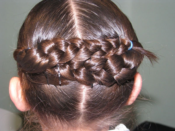 braided crown 30 Cute Hairstyles For School