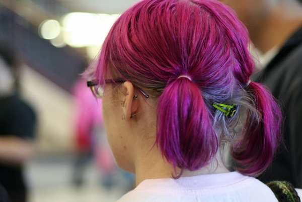 cool purple hair 30 Cute Hairstyles For School