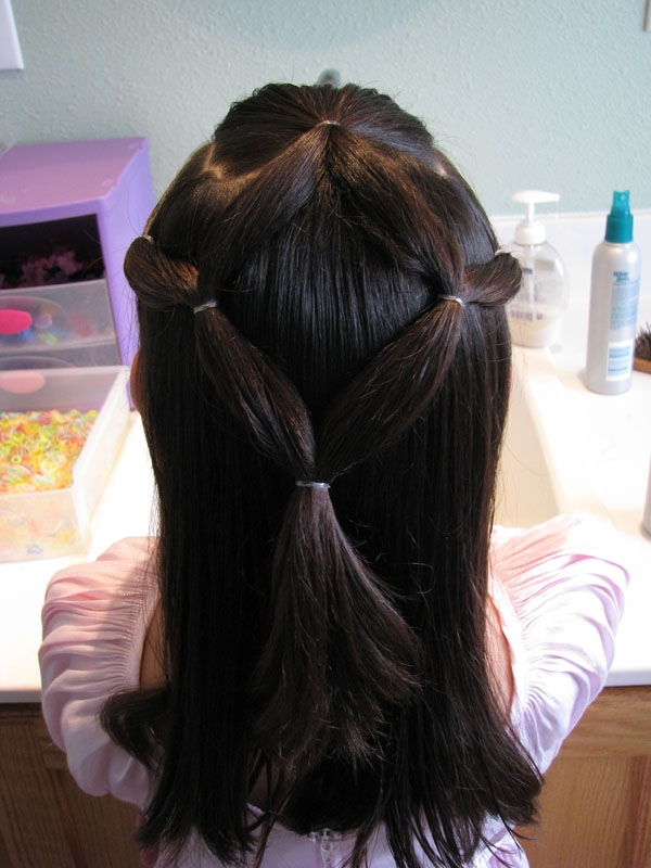 ponytail veil 30 Cute Hairstyles For School