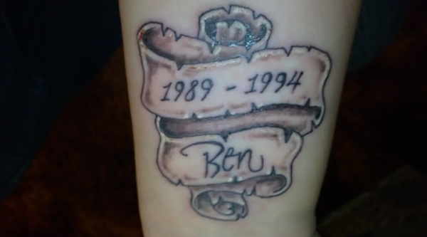 Born Scroll Tattoo