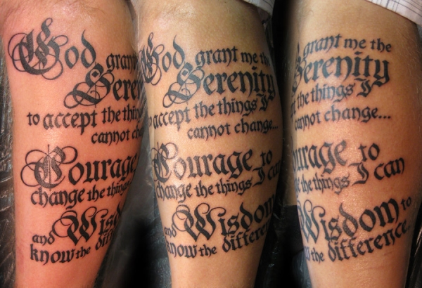 amazing serenity prayer tattoo 20 Nice Serenity Prayer Tattoo Designs