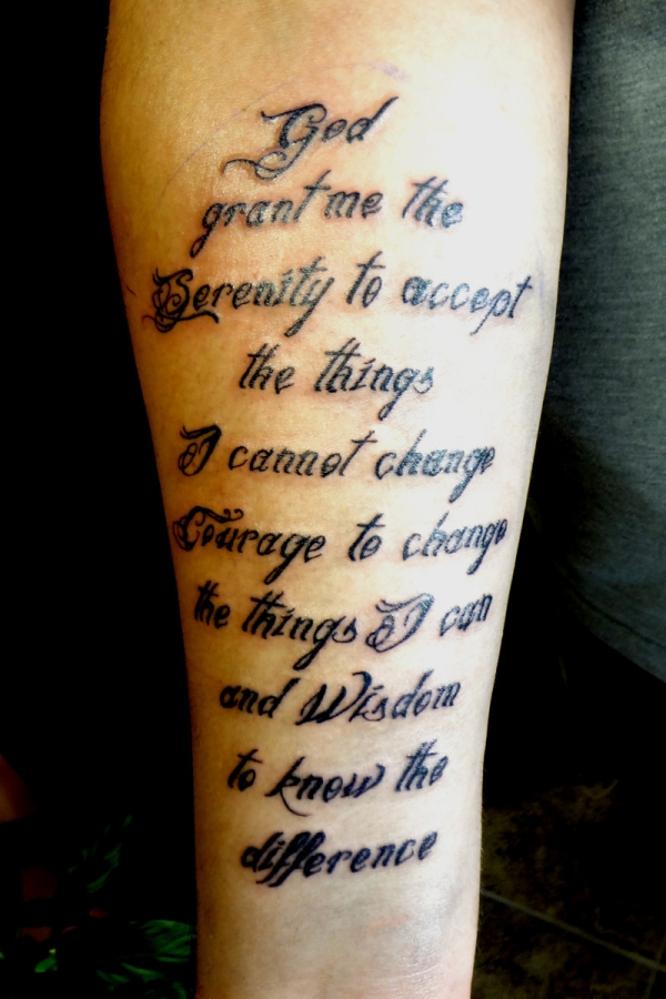 1b5b988ab Serenity Prayer Tattoo Designs - 20 Nice Collections | Design Press