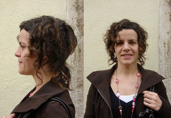 Color Curly Short Haircut