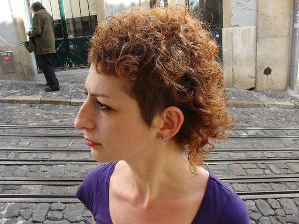 Curly Haircut Red Color