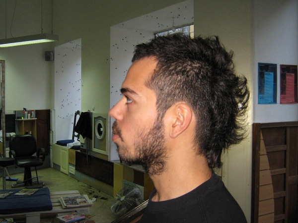 Man Haircut With Texture