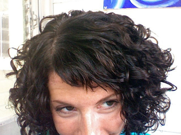 more bangs 40 Awesome Short Haircuts For Curly Hair