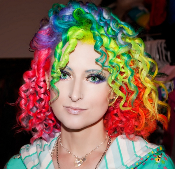 Colorful Curly