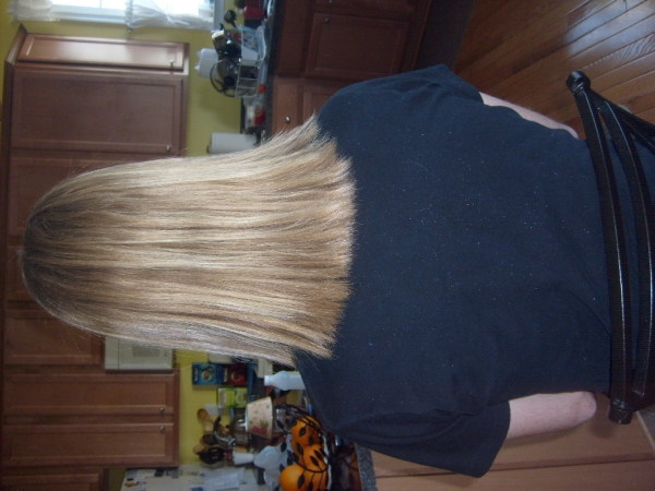 Straightened Thick Hair Style