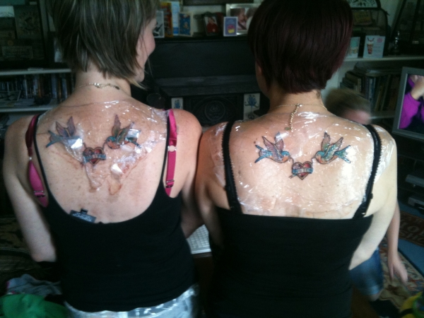 Matching Back Tattoo With My Sister
