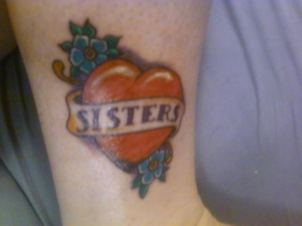 sister texture tattoo 25 Lovely Sister Tattoos
