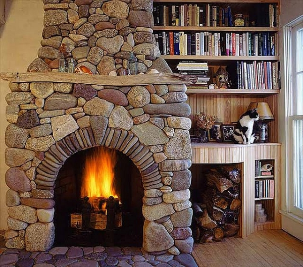 Amazing Stone Fireplace