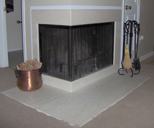 Smooth Stone Fireplace