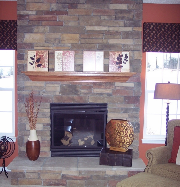 Stylish Stone Fireplace