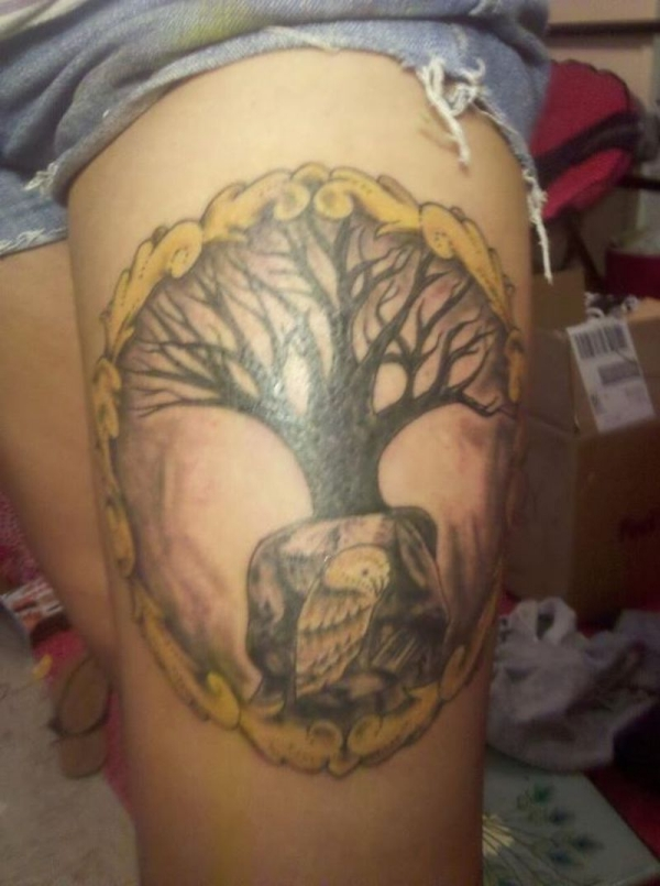 Tree Of Life Tattoo With Various Shades
