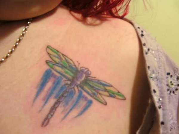 dragonfly 30 Beautiful Shoulder Tattoos for Women