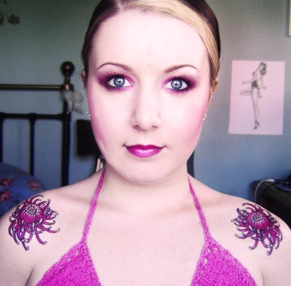 japanese chrysanthemum tattoos 30 Beautiful Shoulder Tattoos for Women