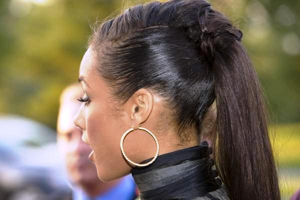 Alicia Keys Unique Ponytail