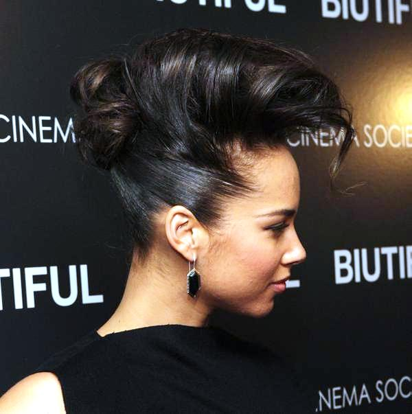 Alicia Keys New Updos