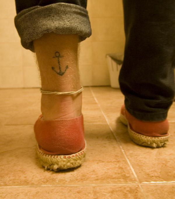 Leg Anchor Tattoo