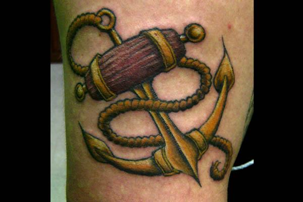 oldie anchor tattoo 35 Sexy Anchor Tattoos