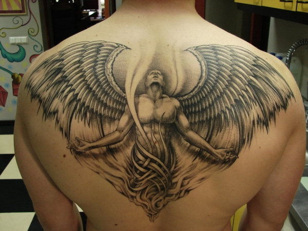 angel healed tattoo 25 Holy Angel Tattoos For Men
