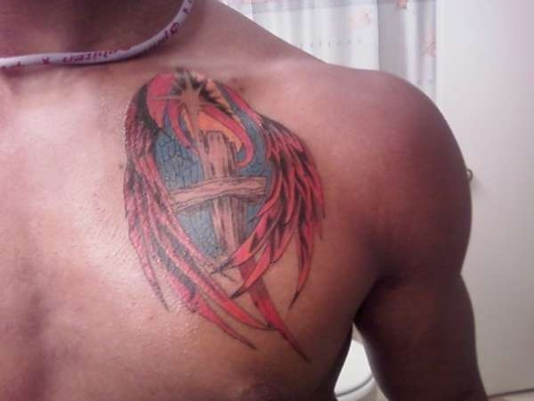 angel tattoo and background 25 Holy Angel Tattoos For Men