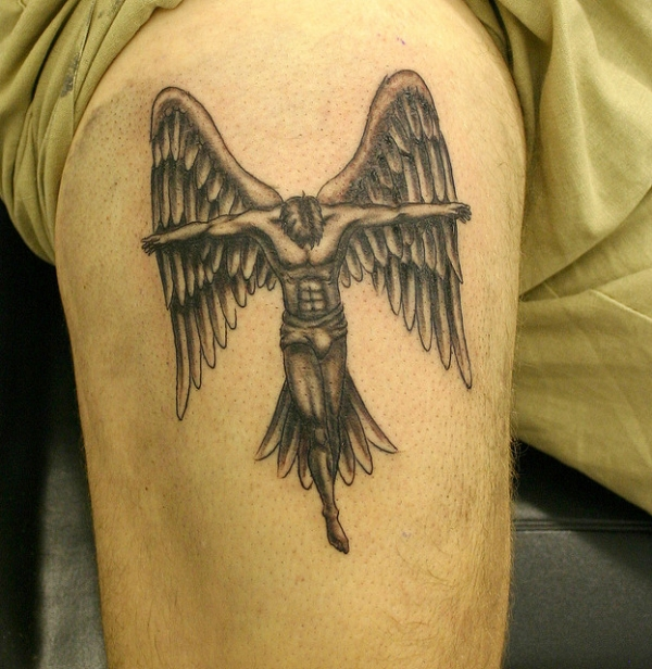 9634fbd31 Angel Tattoos For Men - 25 Holy Collections | Design Press