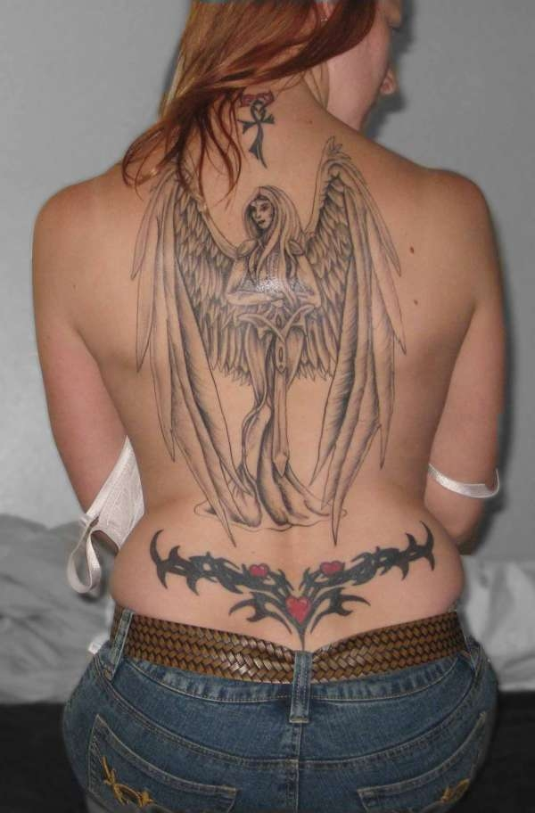 Full Back Angel Tattoo