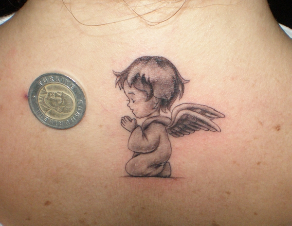 Praying Baby Angel Tattoo