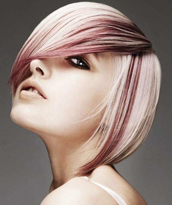 medium hair style 30 Blonde Hair With Red Highlights Ideas