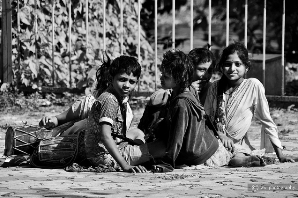Street Children Playing