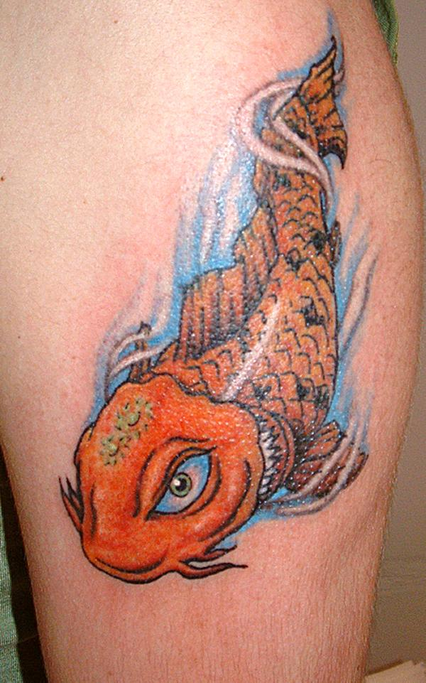 Cute Koi Fish Tattoo