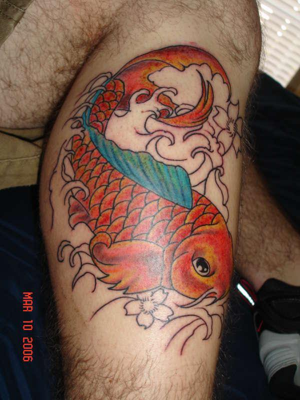 Foreleg Koi Tattoo