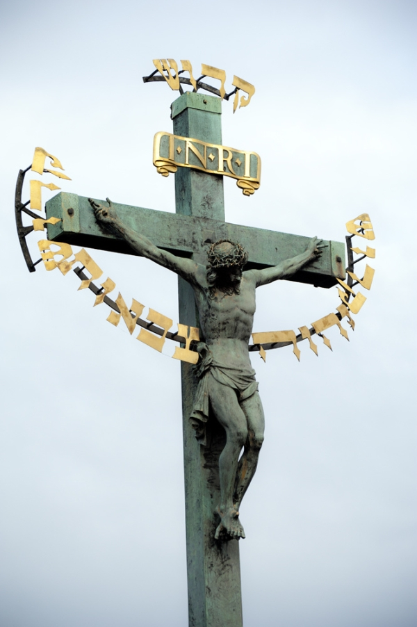 Bronze Christ On A Cross