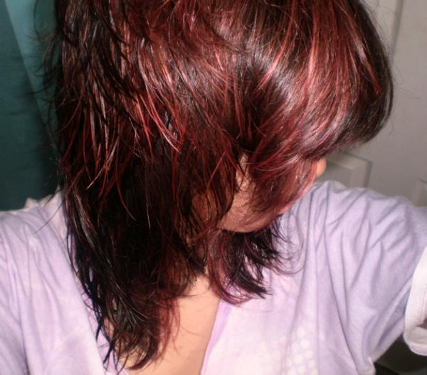 35 brilliant dark brown hair with highlights slodive purple and red highlights pmusecretfo Choice Image