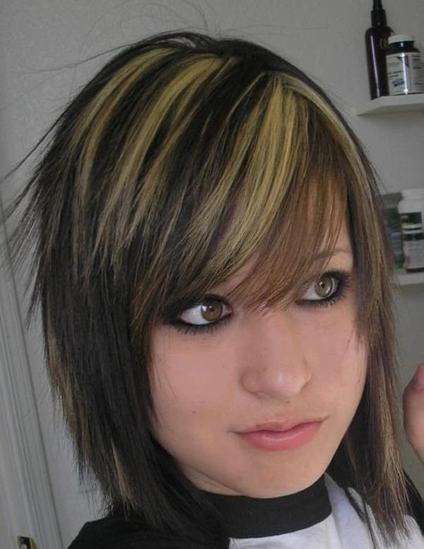 Brown Hair With Black Lowlights And Blonde Highlights